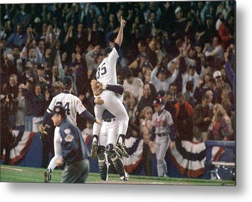 Celebration Metal Print featuring the photograph Atlanta Braves V New York Yankees by Al Bello