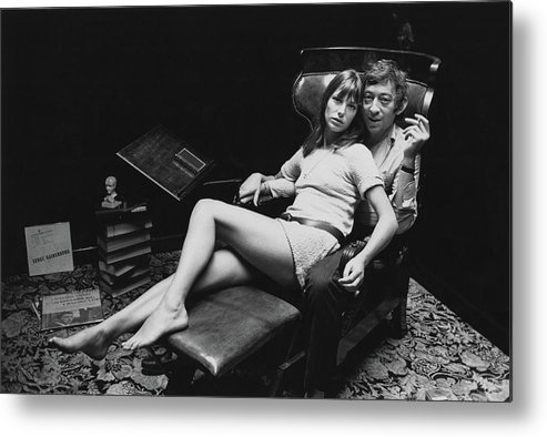 Singer Metal Print featuring the photograph Birkin And Gainsbourg by Reg Lancaster