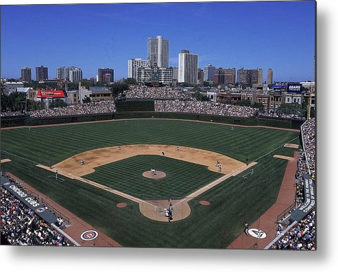 National League Baseball Metal Print featuring the photograph General View by Ezra Shaw