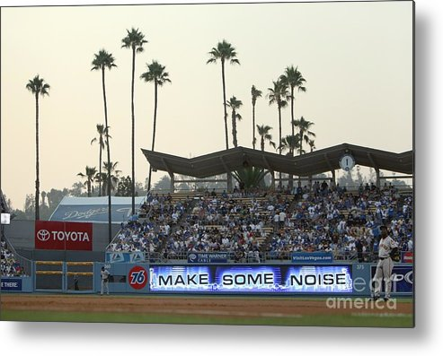 California Metal Print featuring the photograph San Francisco Giants V Los Angeles by Jed Jacobsohn