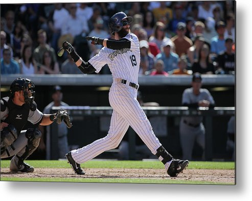 People Metal Print featuring the photograph Charlie Blackmon by Doug Pensinger