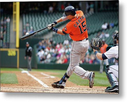 American League Baseball Metal Print featuring the photograph Jason Castro by Otto Greule Jr