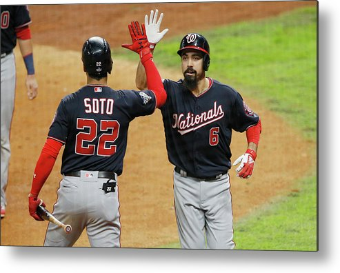American League Baseball Metal Print featuring the photograph Juan Soto And Anthony Rendon by Bob Levey