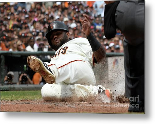 San Francisco Metal Print featuring the photograph Pablo Sandoval by Thearon W. Henderson