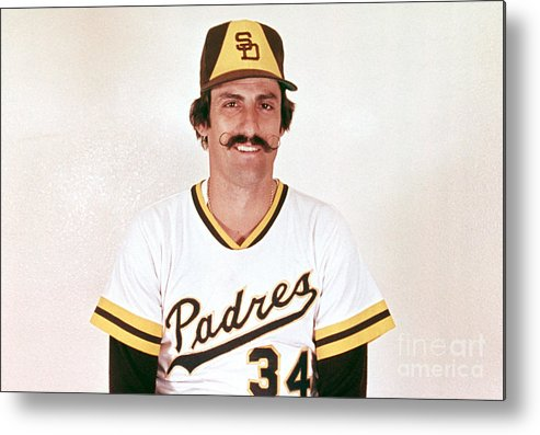 Rollie Fingers Metal Print featuring the photograph Rollie Fingers by Mlb Photos