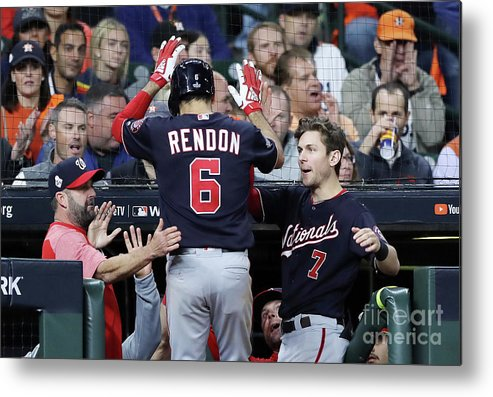 People Metal Print featuring the photograph Trea Turner And Anthony Rendon by Elsa