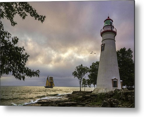 Marblehead Lighthouse Metal Print featuring the photograph A Place To Dream by Dale Kincaid