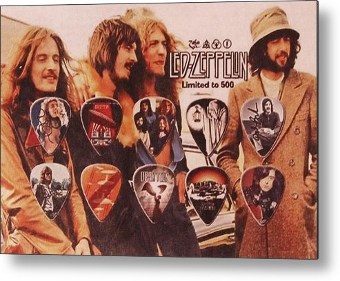 Led Zeppelin Metal Print featuring the photograph Led Zeppelin Art by Donna Wilson