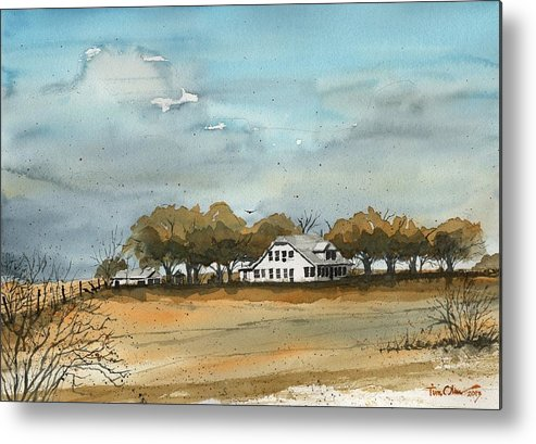 Spade Ranch Metal Print featuring the painting Spade Ranch South Camp by Tim Oliver