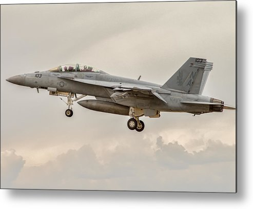 Aviation Metal Print featuring the photograph Super Hornet by Nathan Gingles