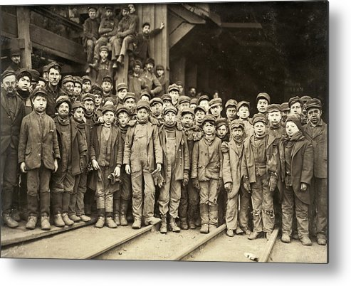 1911 Metal Print featuring the photograph Hine Child Labor, 1911 by Granger