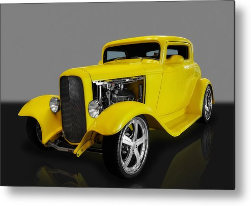 Hot Rods Metal Print featuring the photograph 1932 Ford 3 Window Coupe by Frank J Benz
