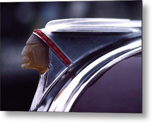 1941 Metal Print featuring the photograph 1941 Pontiac Hood Ornament by Carol Leigh