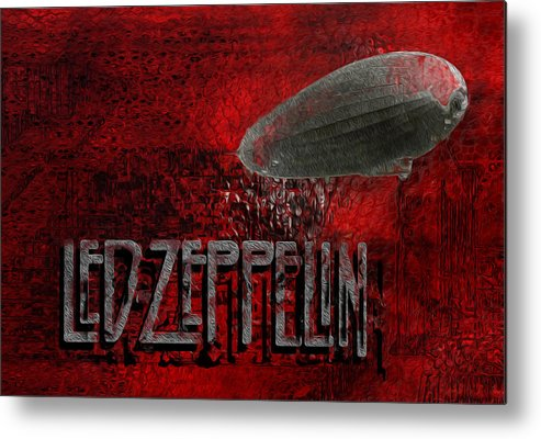 Led Zeppelin Metal Print featuring the painting Led Zeppelin by Jack Zulli
