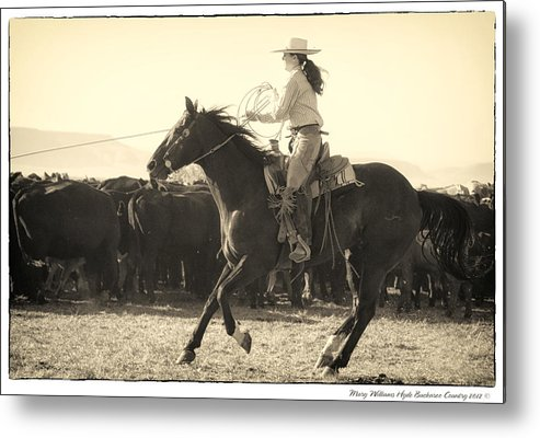 Metal Print featuring the photograph 7700 by Mary Williams Hyde