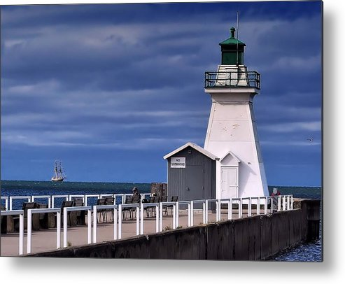 Light House Metal Print featuring the photograph Tall Ship by Tracy Bennett
