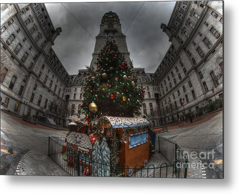 Philadelphia Metal Print featuring the photograph A City Hall Christmas by Mark Ayzenberg