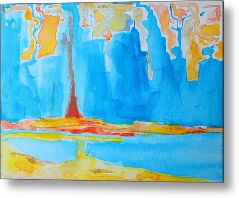 Abstract Watercolor Metal Print featuring the painting Abstract II by Patricia Awapara