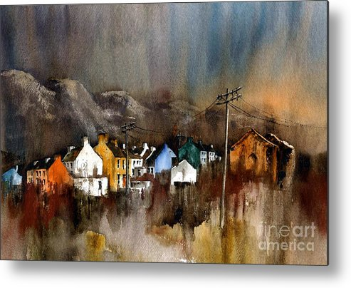 Val Byrne Metal Print featuring the painting Allihies Dusk Beara Cork by Val Byrne