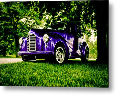 British Hot Rod Metal Print featuring the photograph Austin Hot Rod by motography aka Phil Clark