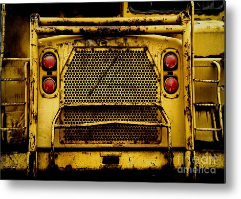 Bulldozer Metal Print featuring the photograph Big Dump Truck Grille by Amy Cicconi