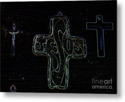 Jesus Metal Print featuring the photograph Big Jesus by Tina M Wenger