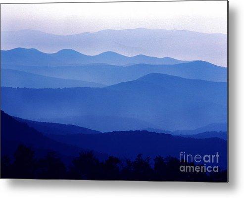 Blue Ridge Mountains Metal Print featuring the photograph Blue Ridge Mountains Shenandoah National Park by Thomas R Fletcher