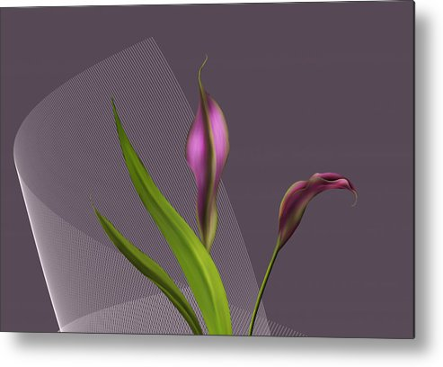 Brooklyn Metal Print featuring the painting Calla Lillies by Barbara Milton