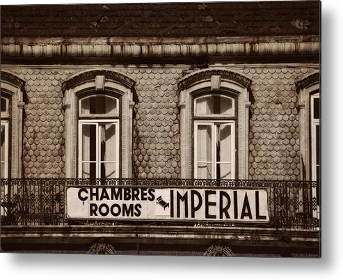 Chambres Imperial Lisbon Metal Print featuring the photograph Chambres Imperial Lisbon by Mary Machare