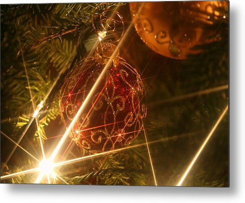 Christmas Ornaments Metal Print featuring the photograph Christmas Ornaments 1 by Ellen Henneke