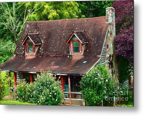 Mountains Metal Print featuring the photograph Colorful Mountain House by Annette Allman