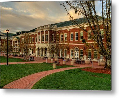 Western Carolina University Metal Print featuring the photograph Courtyard Dining Hall - Wcu by Greg and Chrystal Mimbs