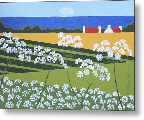 Landscape Metal Print featuring the painting Denmark 4 by Trudie Canwood