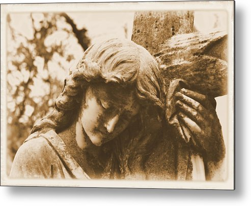 Angel Metal Print featuring the photograph Devotion by Nadalyn Larsen