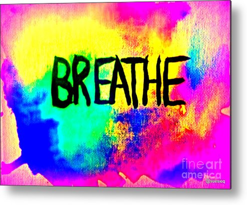 Metal Print featuring the digital art Exhale by Sue Rosen