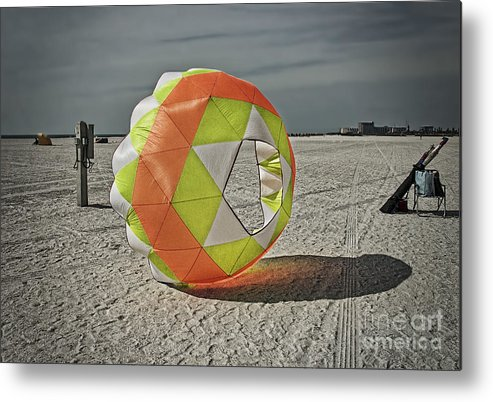 February Metal Print featuring the photograph February On Tampa Bay Beach by Barbara Youngleson