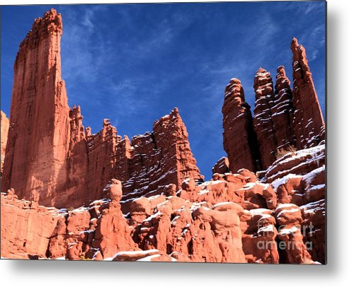 Fisher Towers Metal Print featuring the photograph Fisher Hoodoo City by Adam Jewell