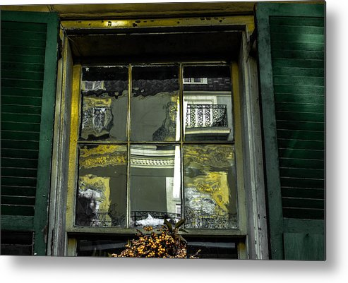 Window Metal Print featuring the photograph French Quarter Window by Louis Maistros