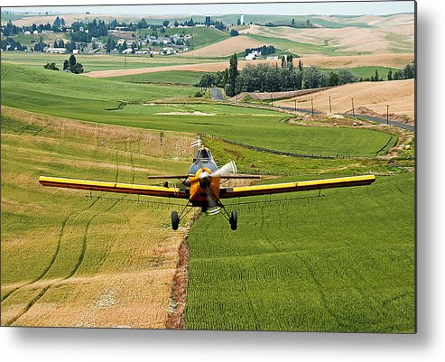 Palouse Metal Print featuring the photograph Genesee Crop Dusting by Doug Davidson