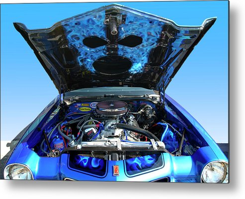 1973 Metal Print featuring the photograph Ghost Under The Hood by Paul Cannon