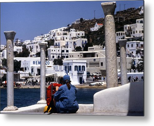 Greek Metal Print featuring the photograph Greek Traveler by Michael Anderson