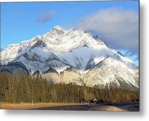 Banff National Park Metal Print featuring the photograph Heading For Banff by George Cousins