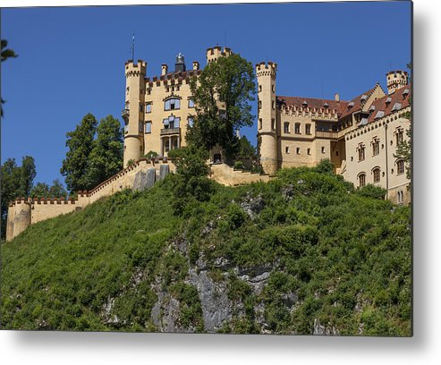 Castle Metal Print featuring the photograph Hohenschwangau Castle by Radka Linkova
