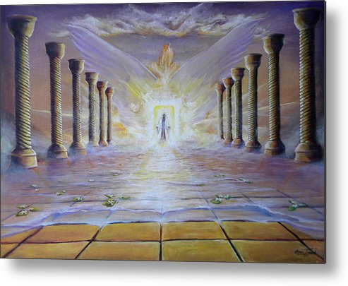 Heaven Metal Print featuring the painting Holies Of Holies by Beau Ettestad