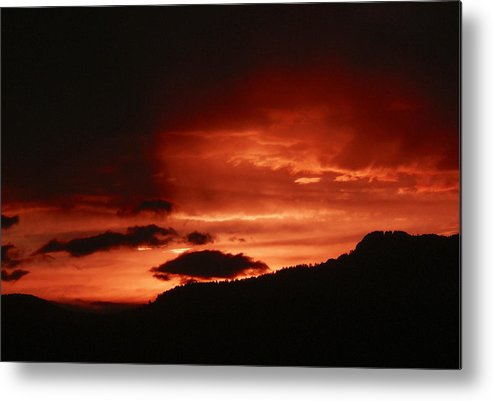 Nature Metal Print featuring the photograph Horsetooth Sunset by David Kehrli