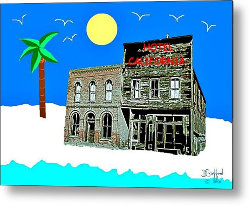 Hotel Metal Print featuring the painting Hotel California by Dave Gafford