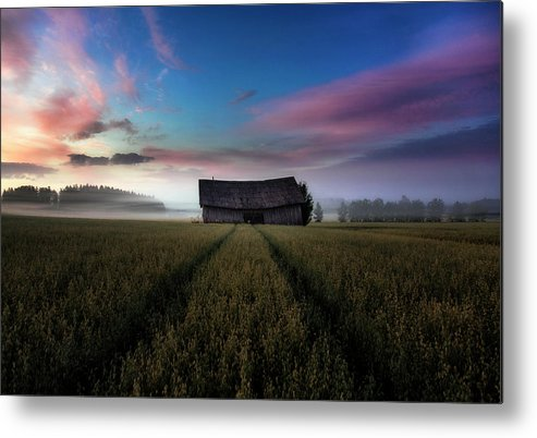 Finland Metal Print featuring the photograph In The Middle Of The Day. by Mika Suutari