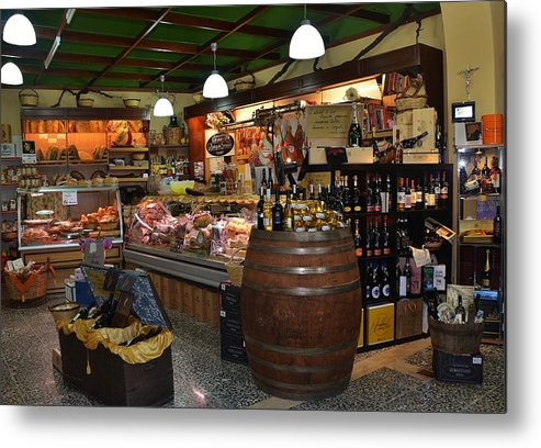 Grocery Metal Print featuring the photograph Italian Grocery by Dany Lison