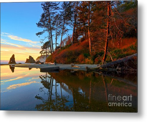 Landscape Metal Print featuring the photograph Lagoon Sunrise 1 by Don Hall