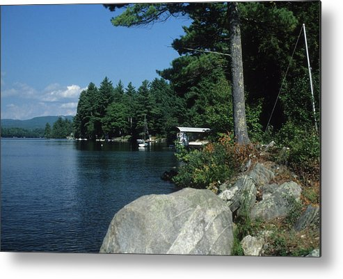 Landscape Metal Print featuring the photograph Lake Norway 07 by Guy Whiteley